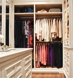 Such an organized closet!