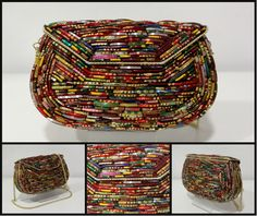 faff9ef74de Party Ethnic clutches · Bolso étnico con piezas metálicas de pulseras.  Colorido, divertido y diferente para tus outfits
