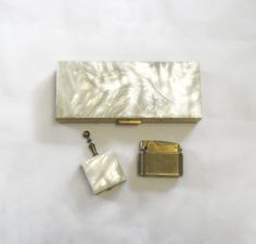 Mother of Pearl Cigarette Case Three Piece by EmbracingYesterday