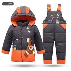 children Snowsuits kids boys girls boy girl white duck down cartoon ski baby Down Jacket Suit Jackets Boys Winter Clothes, Girls Winter Coats, Kids Clothes Boys, Kids Coats, Winter Kids, Kids Ski Suit, Winter Outfits, Kids Outfits, Baby Snowsuit