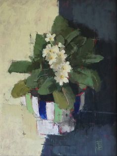 'Primrose' by Jill barthorpe. Part of the 'Still life' exhibition at gallerytop, opening Saturday 15 August 201