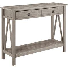 Linon Titian Console Table, Rustic Gray - Walmart.com