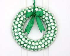 Spearmints Candy Wreath.
