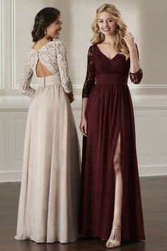 Bridesmaid Dress 22895 by Christina Wu Celebration - Search our photo gallery for pictures of wedding bridesmaids by Christina Wu Celebration. Find the perfect bridesmaid with recent Christina Wu Celebration photos. Bridesmaid Dresses With Sleeves, Lace Bridesmaids, Bridesmaid Dress Styles, Wedding Dresses, Bridesmaid Color, Burgundy Bridesmaid Dresses Long, Winter Bridesmaids, Formal Dresses With Sleeves, Bridesmaid Proposal