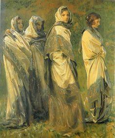 John Singer Sargent - Cashmere, dettaglio (1908).