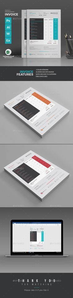 Creative Invoice Bill Designs To Impress Clients    Creative