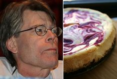 Stephen King's favorite food...and ours as well! This recipe for Cranberry Orange Cheesecake is just the thing to comfort yourself after scaring yourself silly with King's books.