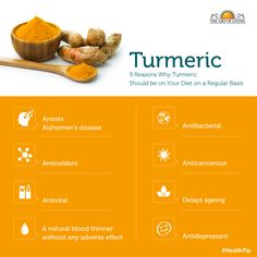 8 Reasons Why Turmeric Should Be on Your Diet on a Regular Basis #health #turmeric benefits #infographic