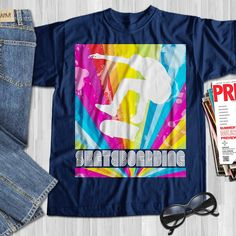 I Love Skateboarding Skateboard Shirts, Skateboard Pictures, Vintage Skateboards, Tee Shirts, Tees, Skateboarding, Gifts For Family, Shirts For Girls, Retro Vintage