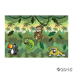 """Jungle Journey"" Design-A-Room Scene Setters - Oriental Trading"