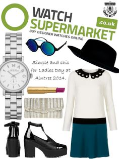 Simple and chic outfit idea for Ladies Day at Aintree Featuring the stunning Marc by Marc Jacobs watch from Watch Supermarket! Aintree Races, Marc Jacobs Watch, Fancy Hats, Ladies Day, Put On, Chic Outfits, Lady, Simple, Stuff To Buy
