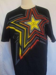 Fox Racing Rockstar Energy mens short sleeve t-shirt size XL