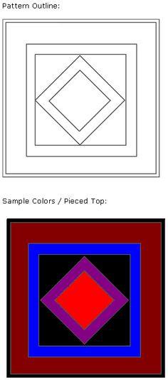 Diamond Center Amish Pattern
