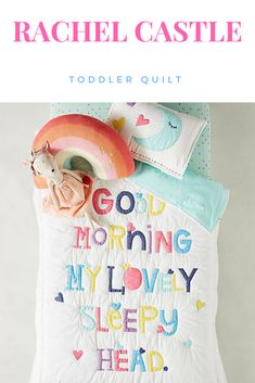 Beautiful toddler quilt made by Rachel Castle | Kids decor | Toddler bed | #ad