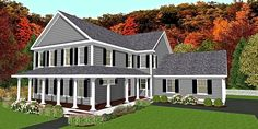Do you know Modular? We do! The Williamsburg is a Modular New England Style Farm house. Click to see plan.