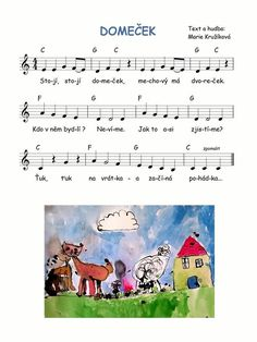 Domeček - k poh. Music For Kids, Kids Songs, Montessori, Piano, Fairy Tales, Preschool, Language, Children, Indiana