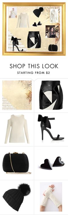 """""""Lovely Christmas"""" by alexis-kitten on Polyvore featuring Kaisercraft, FAUSTO PUGLISI, Velvet by Graham & Spencer, Miss Selfridge, Serpui, Black and WithChic"""