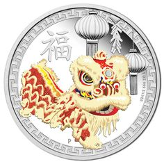 The Chinese lion dance is a form of traditional dance in Chinese culture dating back to the Han Dynasty Bullion Coins, Silver Bullion, Chinese Lion Dance, Chinese Theme, The Han Dynasty, Gold Money, Commemorative Coins, Proof Coins, Challenge Coins