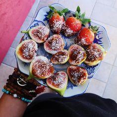 Post secret project with @destinationryd treat! SOOOO GOOOOD  anndd I got this beautiful beautiful plate last night from @shahirahome