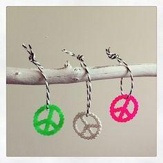 #DIY Bügelperlen Anhänger #Peace
