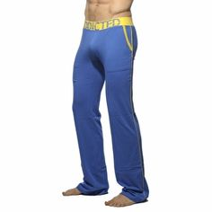 Addicted Lounge Pant With Patch Pockets Blauw