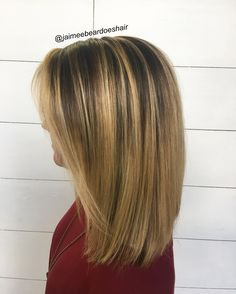 Caramel bayalage on straight done right!!