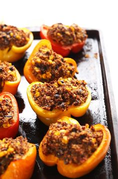 Spinach Quinoa Stuffed Peppers