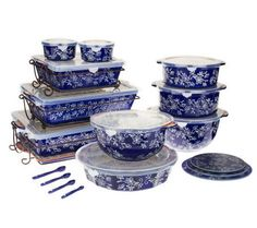 Temp-tations Floral Lace 24-piece Oven-to-Table Set