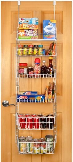 Organization for your kitchen pantry - over the door pantry organizer