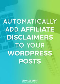 It's super important to have clear and visible affiliate disclaimers on your website or posts that include affiliate links that you can earn money from. Whenever I have a post that contains such links, there is a disclaimer at the top with a link to my full affiliate disclaimer page. But posting this sentence every single time can be annoying and time-consuming, plus you might accidentally forget! That's why all I have to do is tag my post and the disclaimer gets automatically added to my…