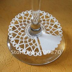 WG1101 10 12pcs/pack Laser Cutting Lace Paper Wine Claims and place card ( color can be customized)-in Event & Party Supplies from Home & Garden on Aliexpress.com