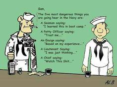 USN dangerous sayings Military Memes, Navy Military, Military Life, Military Ranks, Navy Memes, Navy Humor, Navy Day, Go Navy, Patriotic Pictures
