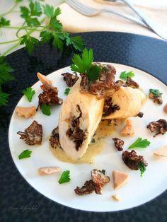 Ballotine de volaille au foie gras et aux girolles