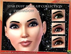 LorandiaSims3's StarDust make-up collection - eyeshadow and eyeliner