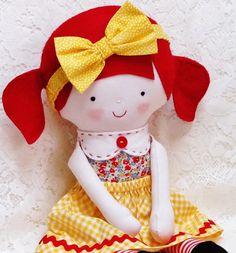 Soft Doll PATTERN, PDF pattern, Softie, Soft Toy, Cloth Doll Pattern, Rag Doll Pattern, Ragdoll, instant download, digital download