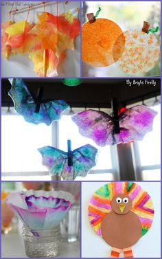Coffee Filters Process Art for Kids. Painting coffee filters using various media has many opportunities for creative play, process art, fun explorations and problem solving. Coffee filters are very absorbent and withstand water playing nicely.