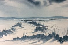 """Winter Light on Lastingham Rigg"" - original watercolour by Glenn Marshall x Painted on Saunders Waterford CP paper with Winsor & Newton artists paints Winter Light, Affordable Art, Snow, Watercolor, Seasons, Mountains, Lighting, Artist, Poster"