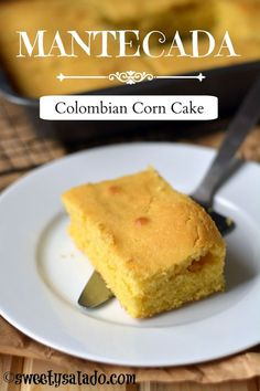 Mantecada (Colombian corn cake) is one of those Colombian recipes that you can make in no time at all whenever you have a craving for something sweet. Even though the recipe is more popular… Colombian Bakery, Colombian Desserts, Colombian Cuisine, My Colombian Recipes, Mexican Recipes, Columbia Food, Columbian Recipes, Oreo, Cake Recipes