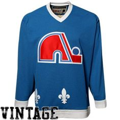 Reebok Quebec Nordiques Royal Blue Team Classic Hockey Jersey 152109b3f