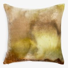The Horizon pillow illuminates the space with lustrous hand-painted velvet, its richly hued pattern inspired by landscapes and the radiant horizon where sun meets earth. Capturing the precious intricacies of nature, each pillow is distinctly one of its kind. Part of the textile collection created exclusively for ABC.