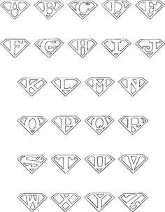 Superman alphabet for the color book book DIY Tattoo diy best tattoo ideas diy best tattoos Tattoo Lettering Fonts, Hand Lettering Alphabet, Graffiti Lettering, Calligraphy Letters, Alphabet Letters, Alphabet Fonts, Alphabet Book, Doodle Alphabet, Kids Alphabet