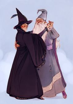 Minerva McGonagall and Albus Dumbledore by Natello's Art #harrypotter #fanart