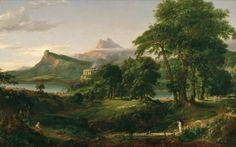 """Estado Pastoral"" 1834 (óleo sobre lienzo) ;' New York Historical Society' -Thomas Cole"