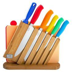 Chicago Cutlery Kinzie Color 9 Piece Knife Block Set