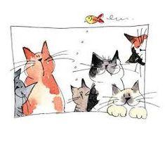 Jill Latter, Illustrator: Cats with Attitude - KUNST - Katzen Cat Drawing, Painting & Drawing, Painting Tips, Watercolor Cat, Cat Crafts, Cat Love, Crazy Cats, Doodle Art, Cat Art