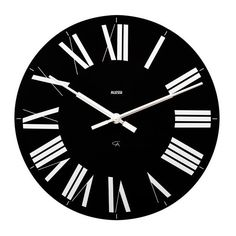Alessi Firenze Wall Clock Black ($88) ❤ liked on Polyvore featuring home, home decor, clocks, fillers, decor, backgrounds, circle, embellishment, detail and circular