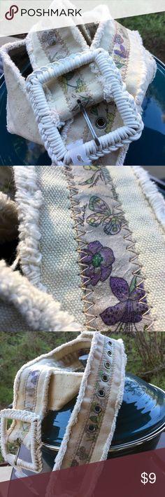 Canvas BOHO flower 🌺 belt. Never worn Never worn- size XL Merona Accessories Belts