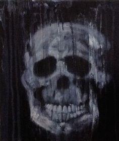 "Saatchi Online Artist John Hobbs; Painting, ""Skull 1"" #art"