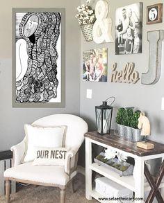 Corner Wall Decor, Corner Nook, Living Room Corner Decor, Wall Collage  Decor,