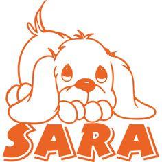 #Vinilo #infantil con perrito, personalizado con nombre